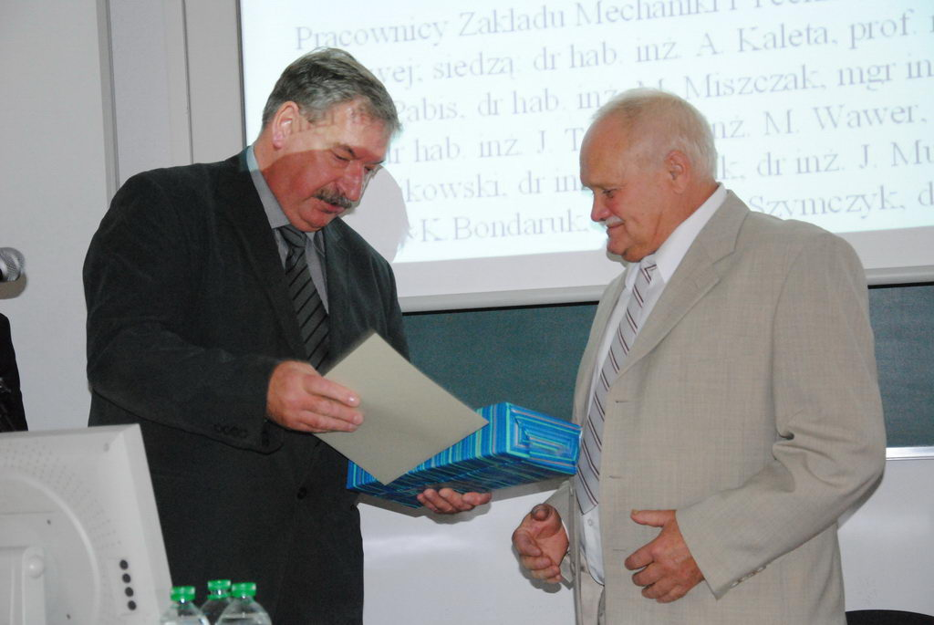 70-lecie urodzin dr hab. Janusza Fryderyka Sztybera, prof. nadzw. SGGW – 28 wrzeœnia 2010r.