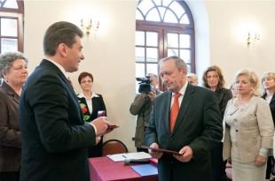 Profesor Czesław Waszkiewicz Honorowym Obywatelem Miasta Ciechanowca