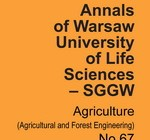 Annals of Warsaw University of Life Sciences – SGGW. Agriculture No 67 (Agricultural and Forest Engineering)