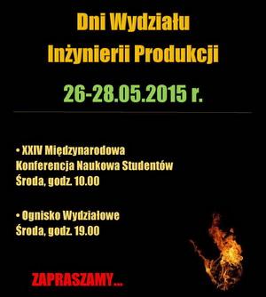 Zaproszenie na Dni WIP 2015 oraz XXIV Międzynarodową Konferencję Studentów