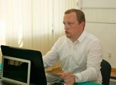 Pierwszy egzamin dyplomowy studenta z Ukrainy w ramach porozumienia o podwójnym dyplomie