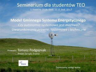 Seminarium dla studentów kierunku TEO